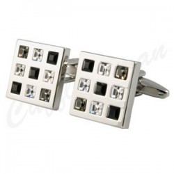 Rosso Black Diamond Square cufflinks