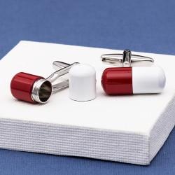 Pill Cufflinks Hidden Message