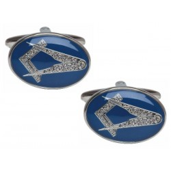 Blue Oval Masonic Cufflinks