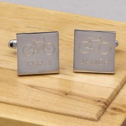 Cycling Cufflinks Personalised