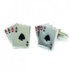 Four Aces Cards Cufflinks