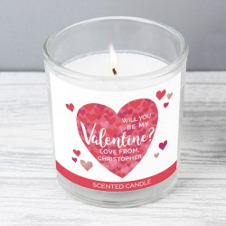 Personalised Valentines Day Scented Candle