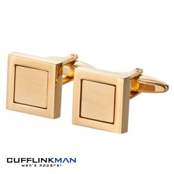 Concentric Square Gold Cufflinks