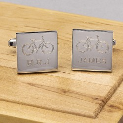 Cycling Cufflinks Personalised