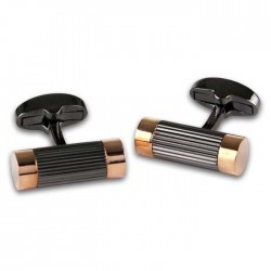 Black & Rose Gold Cufflinks