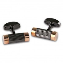 Black and Rose Gold Cufflinks