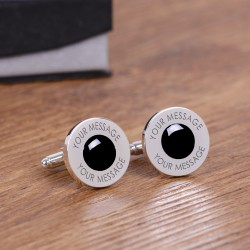 Grey Any Message Cufflinks