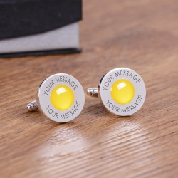Yellow Any Message Cufflinks