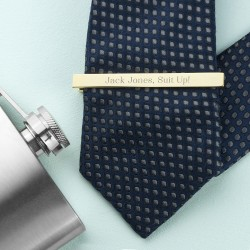 Personalised Gold Tie Clip