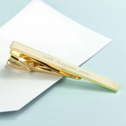 Personalised Special Date Gold Tie Clip