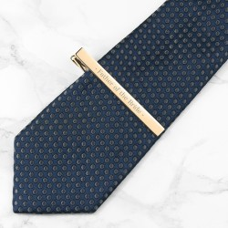 Wedding Party Role Tie Clip - Gold