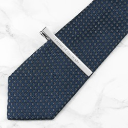 Wedding Party Role Tie Clip - Silver