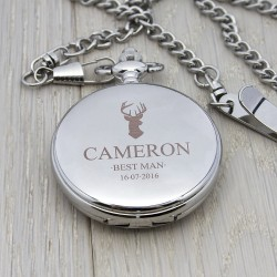 Personalised Wedding Party Pocket Watch - Stag
