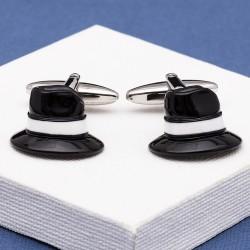 Fedora Trilby Hat Cufflinks