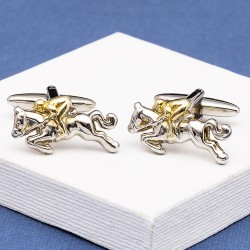 Jockey on Horseback Cufflinks