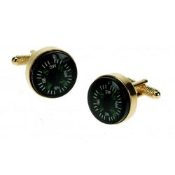 Gold Compass Cufflinks - Real Working Item