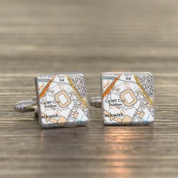 Cardiff City Stadium Cufflinks - Ground Map Cufflinks