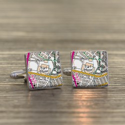 Burnley Football Cufflinks - Football Ground Map Cufflinks