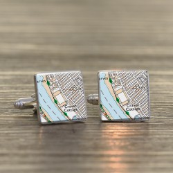 Fulham FC Football Cufflinks - Football Ground Map Cufflinks