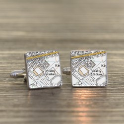 AFC Bournemouth Football Cufflinks - Football Ground Map Cufflinks