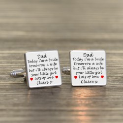 Dad Today A Bride - Father of the Bride Cufflinks
