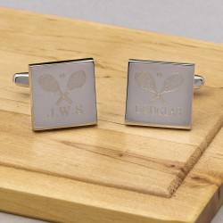 tennis cufflinks personalised