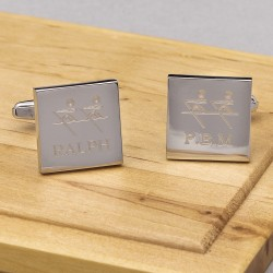 Rowing Cufflinks Personalised