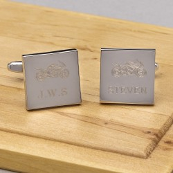 Motor Bike Cufflinks Personalised