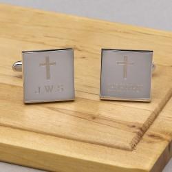 Cross Cufflinks Personalised