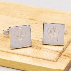 Sailing Anchor Cufflinks Personalised