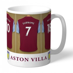 Personalised Aston Villa FC Dressing Room Mug