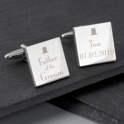 Top Hat Father of the Groom Cufflinks
