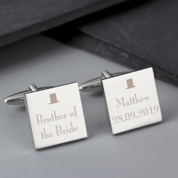 Top Hat Brother of the Bride Cufflinks
