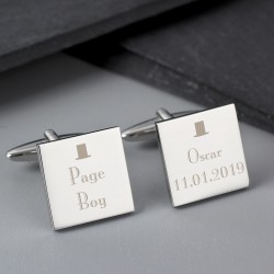 Personalised Top Hat Usher Cufflinks