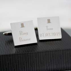 Top Hat Ring Bearer Cufflinks