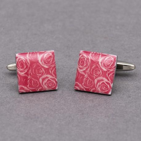 Pink Passion Rose Cufflinks