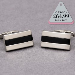 6 Pairs Cufflinks Offer Cantu Black