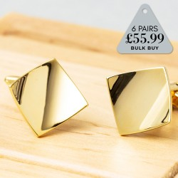 6 Pairs Cufflinks Offer Gold Curves