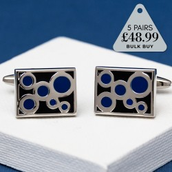 5 Pairs Cufflinks Offer Circles