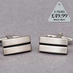 5 Pairs Cufflinks Offer Brushed Stripe