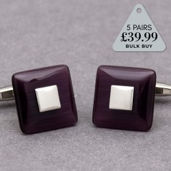 Multi Buy Purple Square Cufflinks