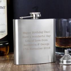 Personalised Hip Flask Any Message