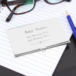 Any Message Business Card Case Engraved