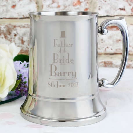 Personalised Father of the Bride Tankard