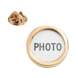 Rose Gold Lapel Pin - Add Your Own Photo