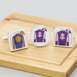 Jockey Silks Cufflinks Personalised Horse Racing Colours