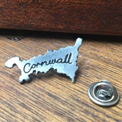 Map of Cornwall Lapel Pin