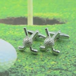 Crossed Golf Clubs Cufflinks