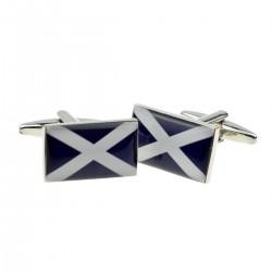Scottish Saltire Flag Cufflinks