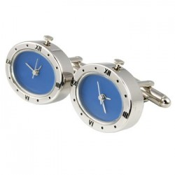 Oval Roman Clock Cufflinks (Working)
